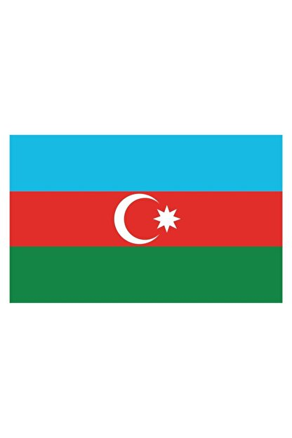 Sticker Fabrikası Azerbaycan Bayrağı Sticker 00702 13x7,5 Cm