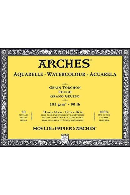 Arches Suluboya Defteri Blok Rough - Kalın Doku 185 Gr. 31x41 Cm. 20 Yaprak
