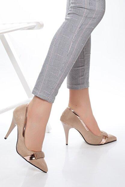 derithy -klasik Topuklu Ayakkabı-vizon Süet