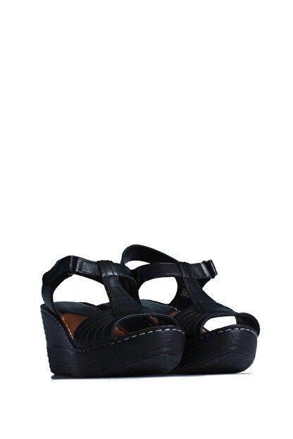 ELLANOR Kadın Siyah Günlük Sandalet