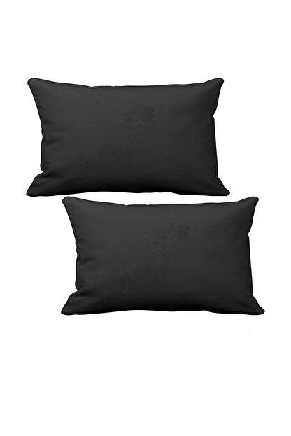 1araba1ev Fort Transit Oto Koltuk Boyun Yastığı 2 Adet Siyah Penye Oto Yastık