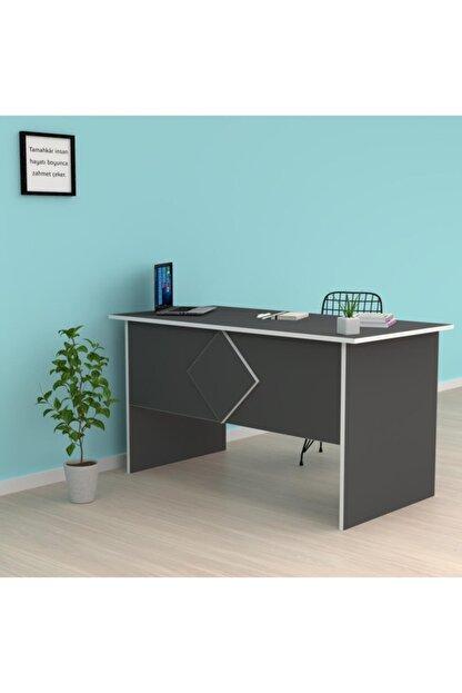 Kenzlife Ofis Masası Masako 075*150*80 Gri Bilgisayar Çalışma Büro