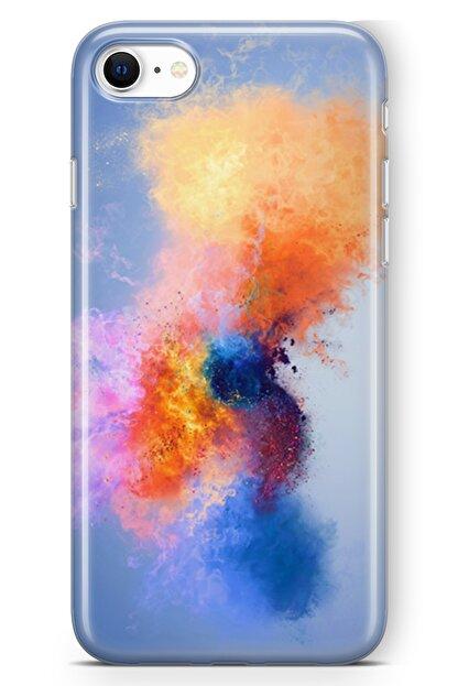 Lopard Apple Iphone Se 2020 Kılıf Color Splash Arka Kapak Koruma Desenli Full Koruyucu
