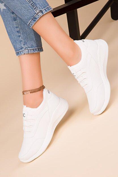 Soho Exclusive Kadın Beyaz Sneaker 15226