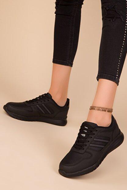 Soho Exclusive Siyah-Siyah Kadın Sneaker 15225
