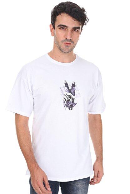 Millionaire Unisex  Beyaz Victory Oversize T-shirt