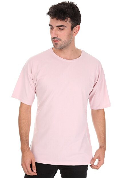 Millionaire Düz Pembe Oversize Unisex T-shirt