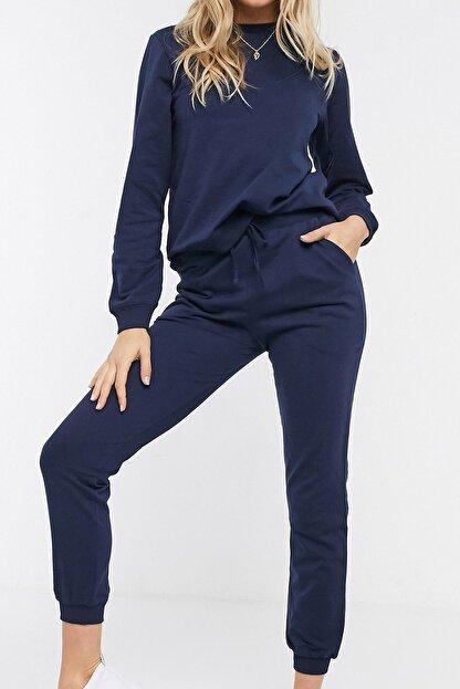 NARE Kadın Lacivert Pamuklu Pijama Takımı