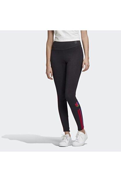 adidas Kadın Siyah  Adicolor 3d Trefoil Leggings Tayt