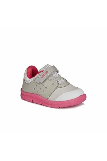 Vicco Kız Çocuk Gri Fuşya Mario  Spor Ayakkabı