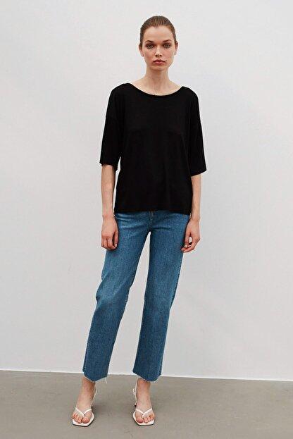 İpekyol Kadın Siyah Basic T-Shirt