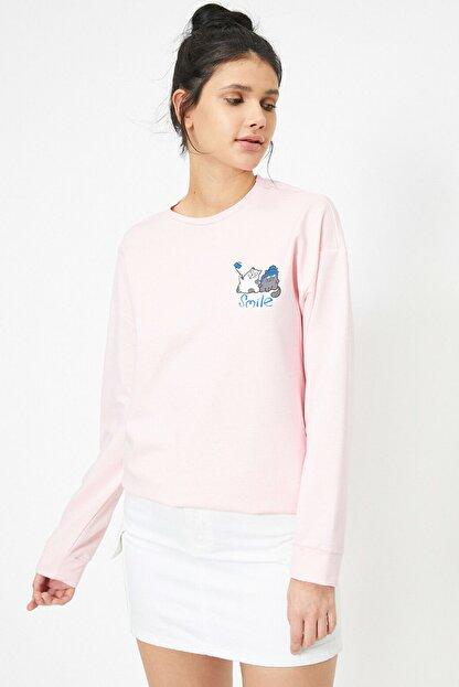Koton Pembe Kadın Sweatshirt