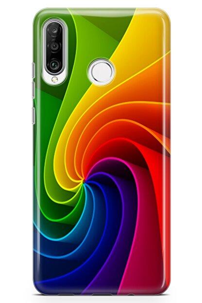 Lopard Huawei Nova 4e Kılıf Rüzgar Gülü Arka Kapak Koruma Desenli Full Koruyucu