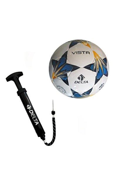Delta Vista El Dikişli 5 Numara Futbol Topu + Top Pompası