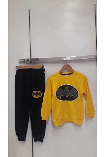 Bella Erkek Çocuk Sarı Batman Eşofman Takım