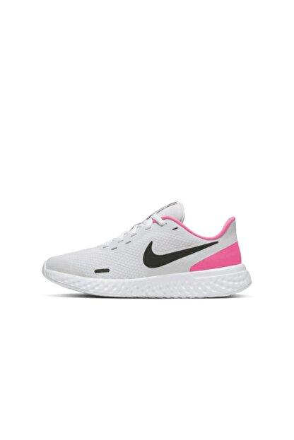 Nike Genç Gri Pembe Yürüyüş Spor Ayakkabısı Revolution 5 - Bq5671-010