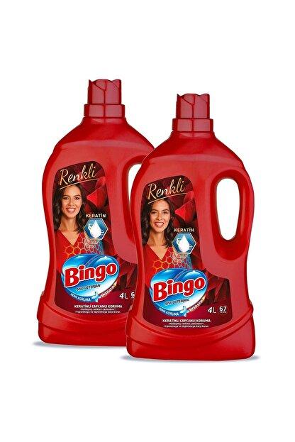 Bingo Renkli Sıvı Bakım Çamaşır Deterjanı 4 lt 2'li