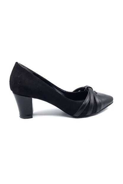 Daisy Kadın Siyah Süet Topuklu Ayakkabısı