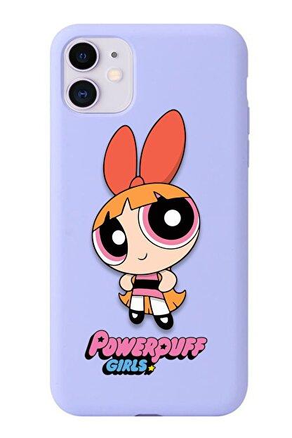 POFHİ Galaxy A20s Blossom Powerpuff Girls Lila Premium Telefon Kılıfı