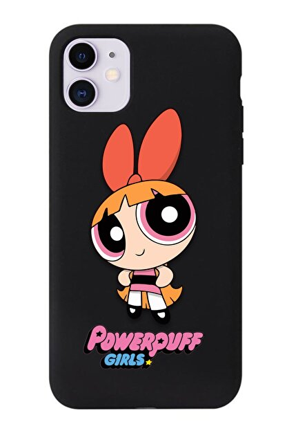 POFHİ Galaxy A20s Blossom Powerpuff Girls Siyah Premium Telefon Kılıfı