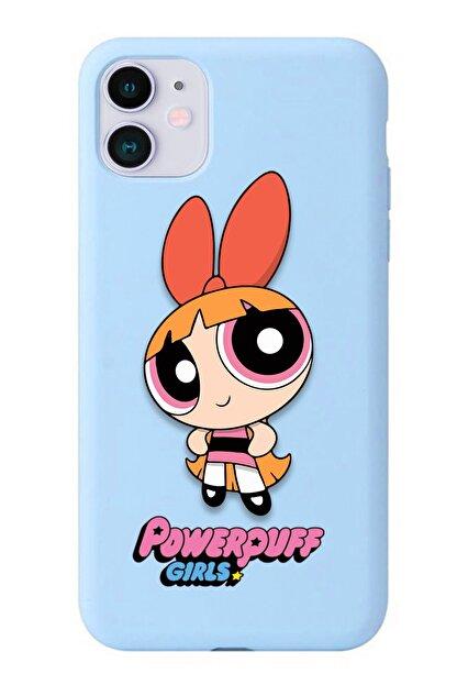 POFHİ Galaxy A20s Blossom Powerpuff Girls Mavi Premium Telefon Kılıfı