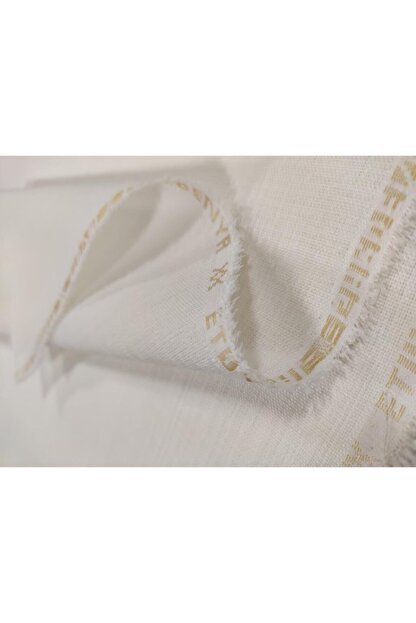 UYAR Etuval Gardenya Dertsiz Punch Panç Nakış Kumaşı 80x100 cm Leke Tutmaz Ekru