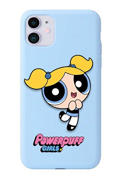 POFHİ Xiaomi Mi A2 Lite Bubbles Powerpuff Girls Mavi Premium Telefon Kılıfı