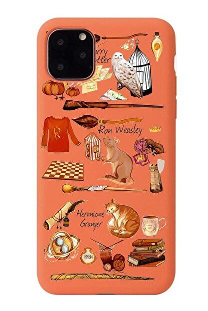 POFHİ Galaxy A70 Harry Potter Turuncu Premium Telefon Kılıfı