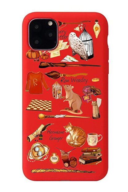 POFHİ Huawei Y7 2019 Harry Potter Kırmızı Premium Telefon Kılıfı