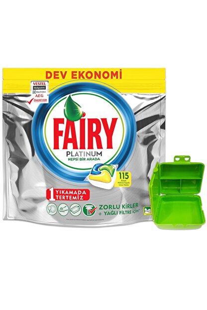 Fairy Platınum 115 Yıkama Bulaşık Makinesi Kapsul Limon Kokulu (beslenme Kutusu Hediye)