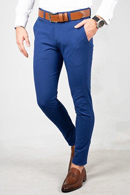 DeepSea Saks Mavi Erkek Kumaş Pantolon - İtalyan Kesim 1805010