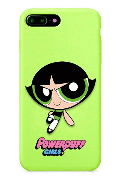 POFHİ Iphone 7 Buttercup Powerpuff Girls Yeşil Premium Telefon Kılıfı