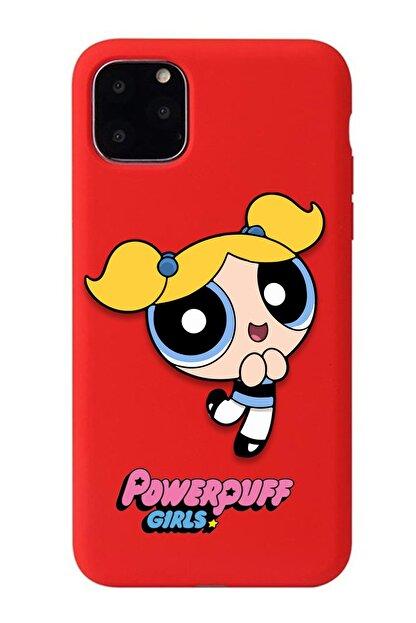 POFHİ Xiaomi Mi 8 Lite Bubbles Powerpuff Girls Kırmızı Premium Telefon Kılıfı