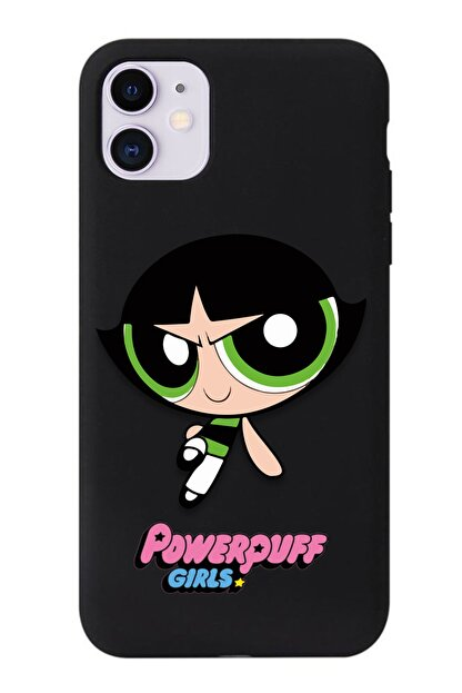 POFHİ Xiaomi Mi 8 Lite Uyumlu Buttercup Powerpuff Girls Baskılı Siyah Premium Telefon Kılıfı