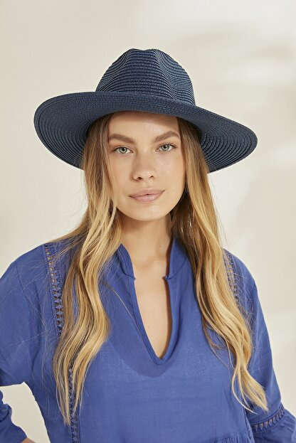 C&City Syt Kadın Hasır Şapka Y2730-57 Lacivert