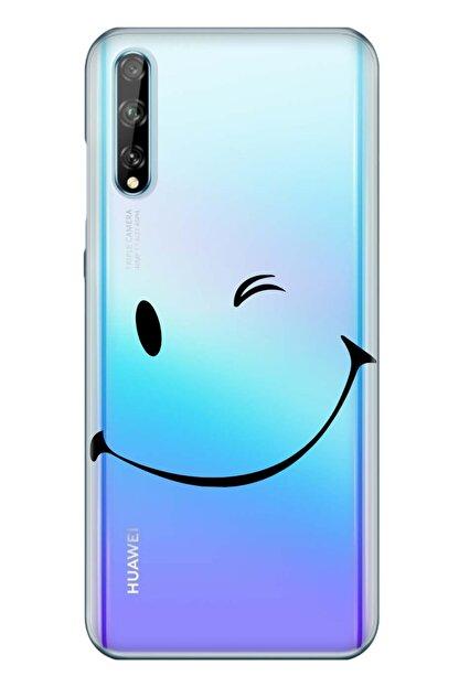 Cekuonline Huawei P Smart S - Y8p Smile Temalı Resimli Silikon Kılıf