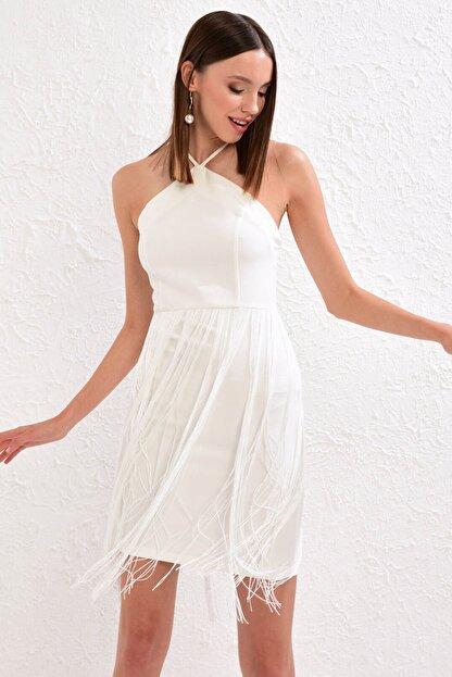 LC Waikiki Kadın Optik Beyaz Elbise 0WDA48Z8