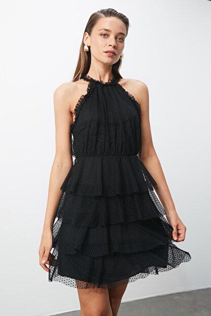 TRENDYOLMİLLA Siyah Halter Yaka Elbise TPRSS20EL0357