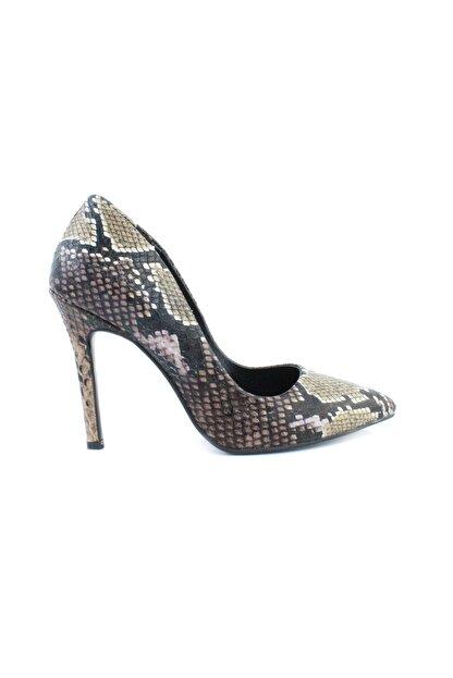 inderi Kadın Kahverengi Snake Ayakkabı