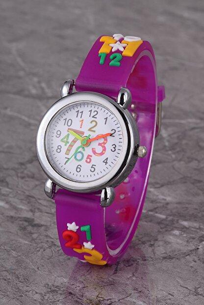 Polo55 Plcs005r02 Çocuk Saat Mor Rakamlı Çocuk Saati