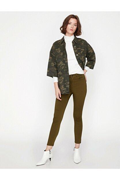 Koton Kadın Yeşil Pantolon