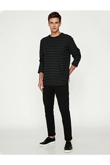 Koton Erkek Siyah Pantolon 9KAM41964LW