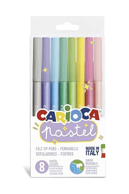 Carioca Pastel Süper Yıkanabilir Keçeli Kalem 8'li 43032