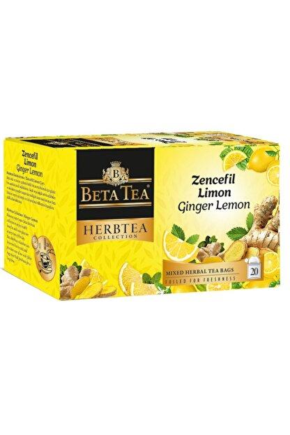 Beta Tea Zencefil Limon Çayı 20x2 Gr - Beta Herbtea Collection