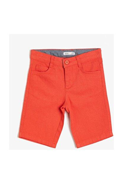 Koton Erkek Çocuk Kırmızı Cep Detayli Sort