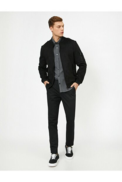 Koton Erkek Siyah Cep Detaylı Pantolon 0YAM42500BW