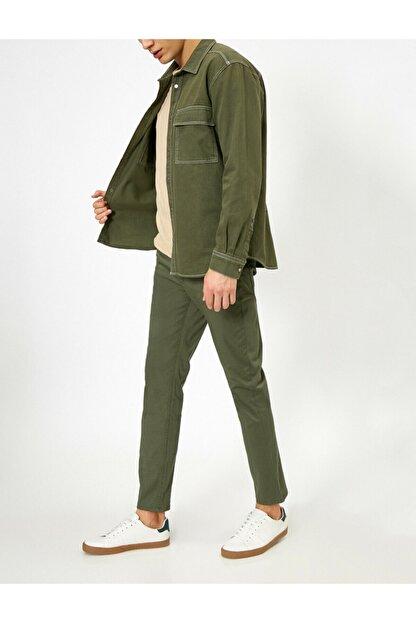 Koton Erkek Yeşil Cep Detayli Pantolon 0YAM42505BW