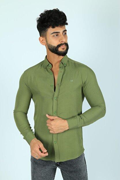 JİYAN Erkek Haki Gömlek