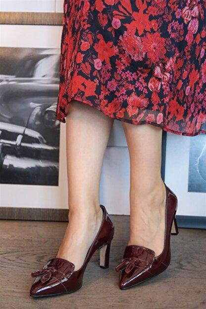 Mio Gusto Emma Bordo Rugan Topuklu Ayakkabı