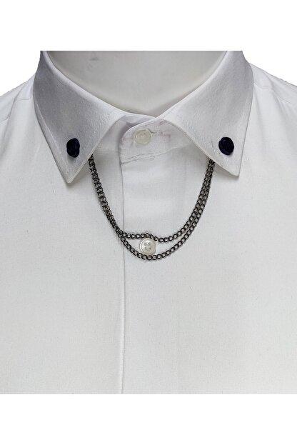 Elegante Cravatte Zincirli Gömlek Yaka Iğnesi
